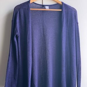 H&M Size XS / S Cardigan in Navy Blue